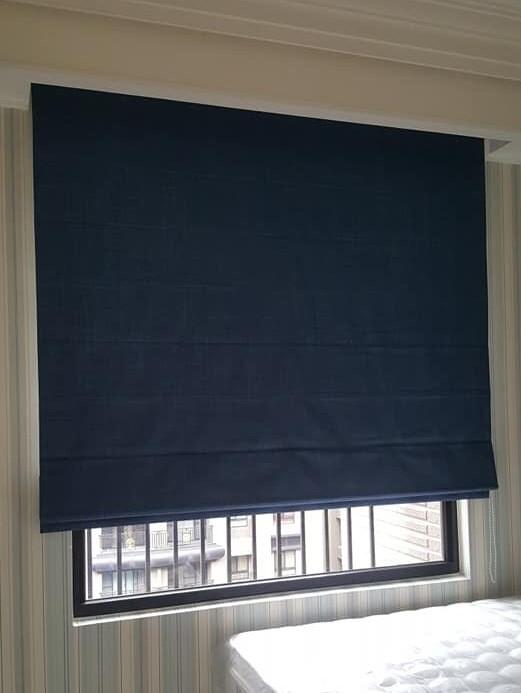 台中便宜窗簾訂做工廠-羅馬簾